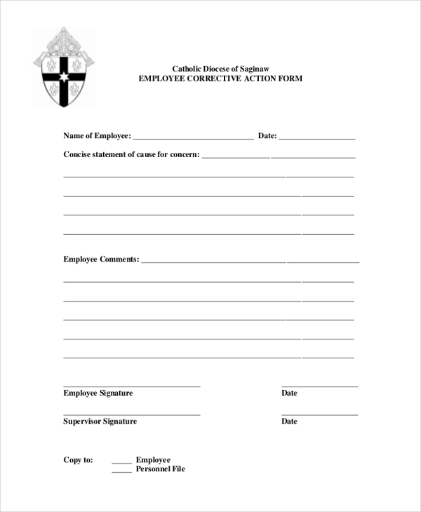 9+Sample Corrective Action Forms - Free Sample, Example, Format