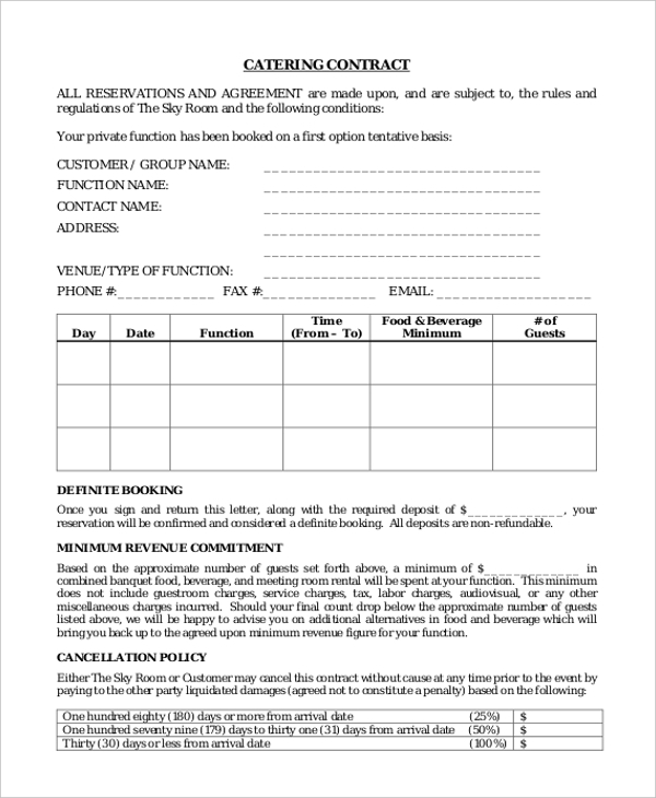 Contract Examples   Free Documents In Pdf Doc