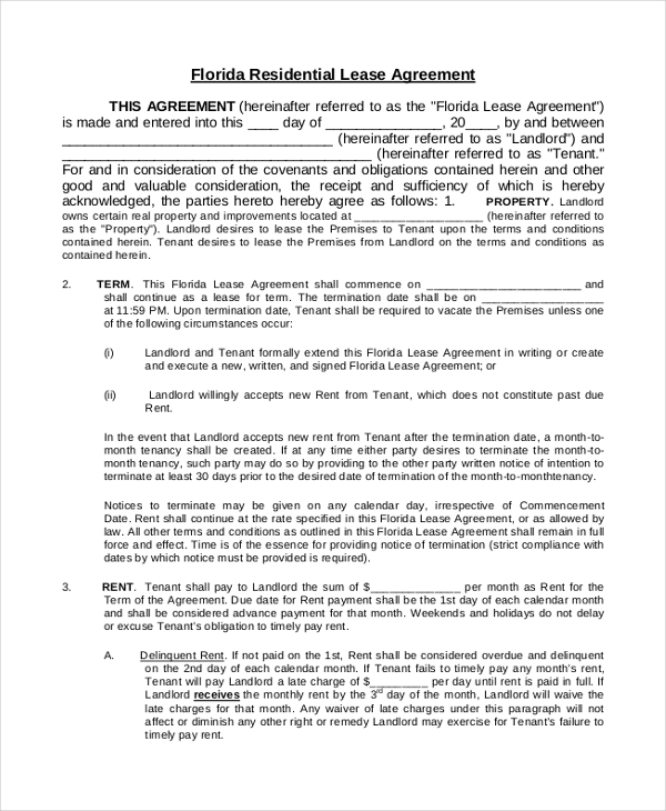Sample House Lease Agreement Form   Free Documents In Pdf