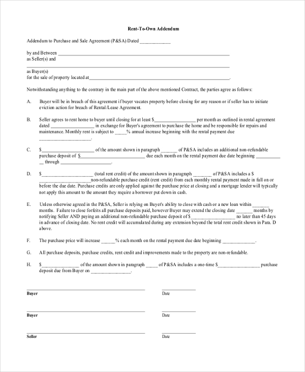 Free Lease Agreement Form Samples   Free Documents In Pdf Doc