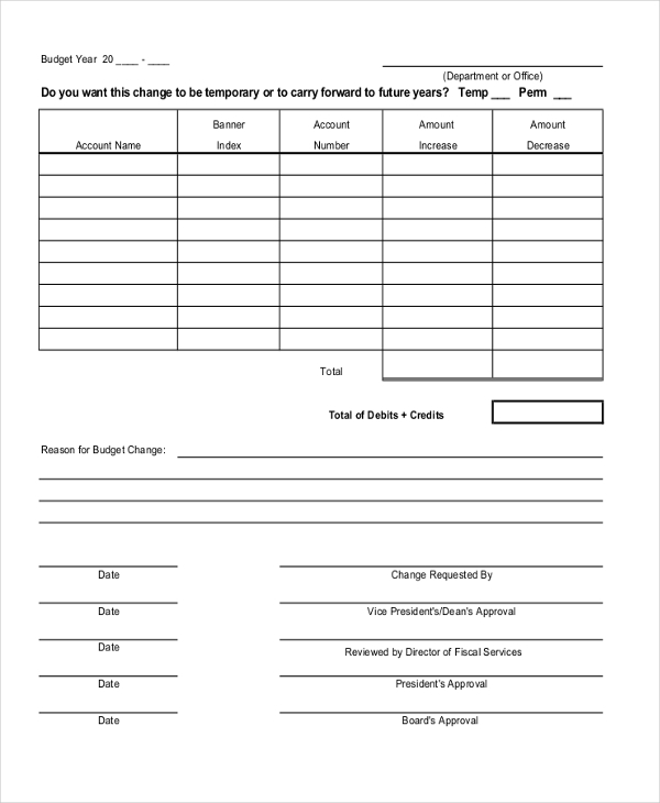 Sample Accounting Form   Free Documents In Pdf Doc