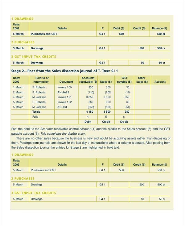 general ledger account form