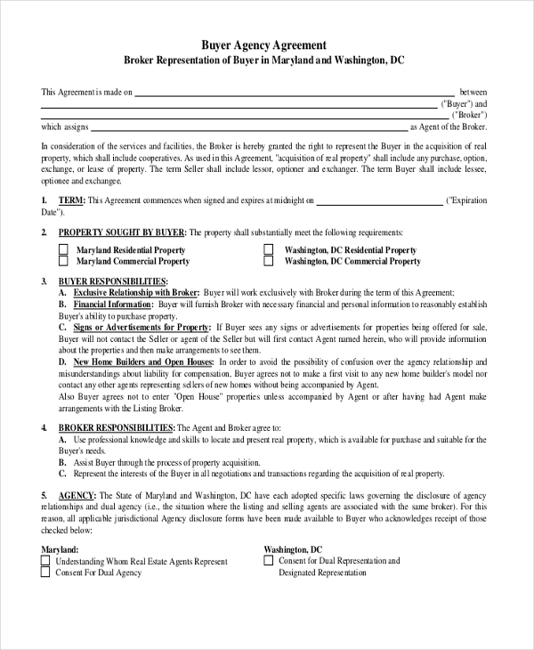 house buyer agreement form