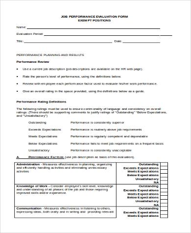 job performance evaluation form1