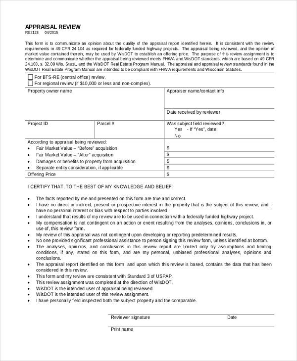 land appraisal review form1