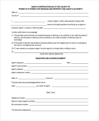 legal power of attorney form
