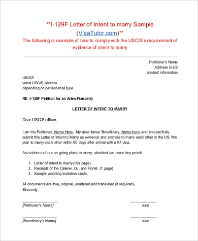 Sample Letter Of Intent Format   Free Documents In Pdf Doc