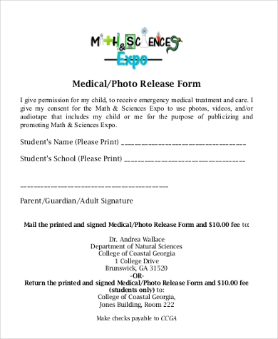 medical photo release form