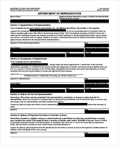 medicare authorized representative form