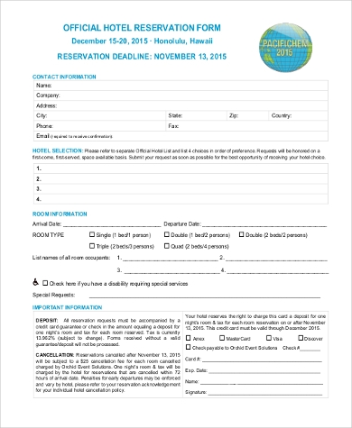 Free reservation forms htpwt hotel and travel psd web templates sample reservation forms wufoo blog online booking form template altavistaventures Choice Image