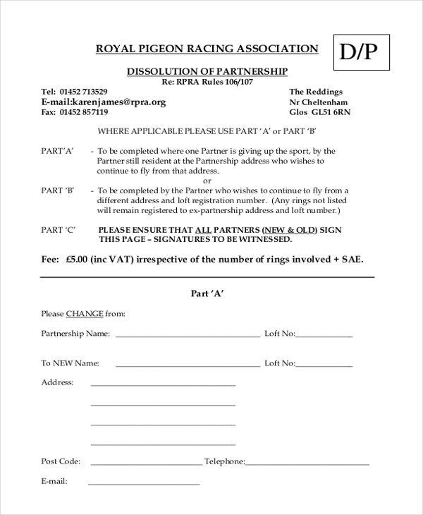 Sample Partnership Agreement Forms Free Sample Example Format - Generic partnership agreement template