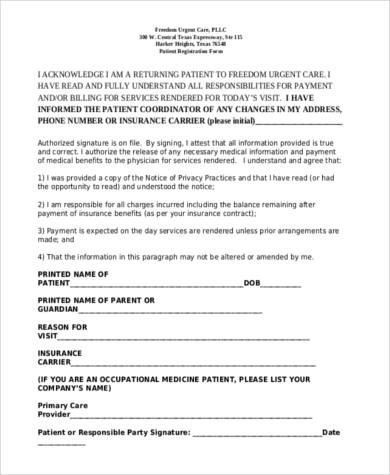 printable patient registration form