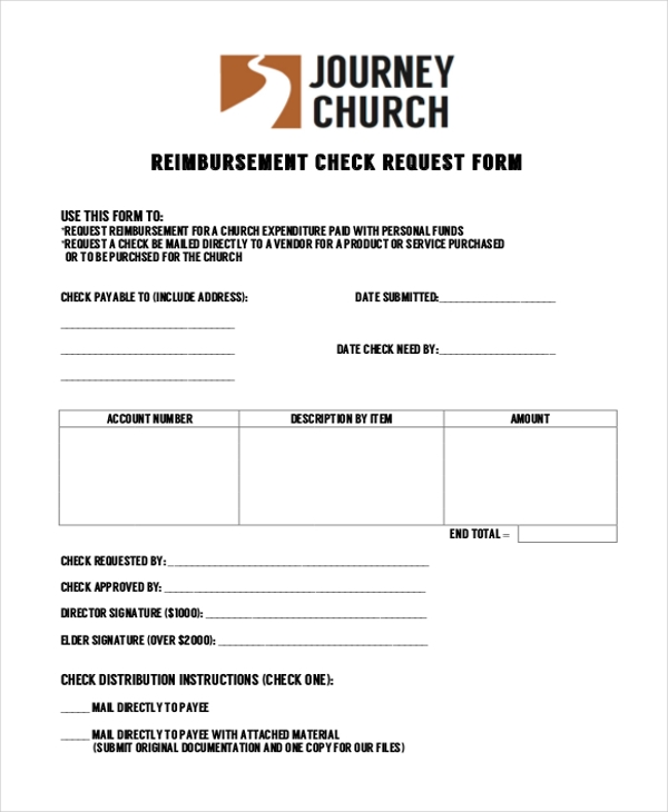 reimbursement check request form1