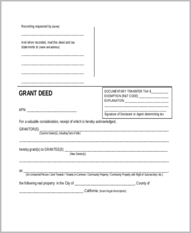 Assignment of property form