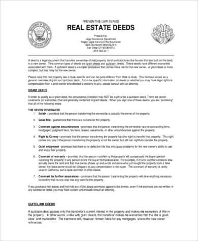 real estate grant deed form