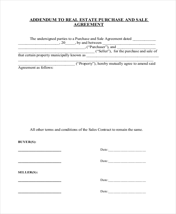 Sample Real Estate Sales Contract Form   Free Documents In Pdf Doc