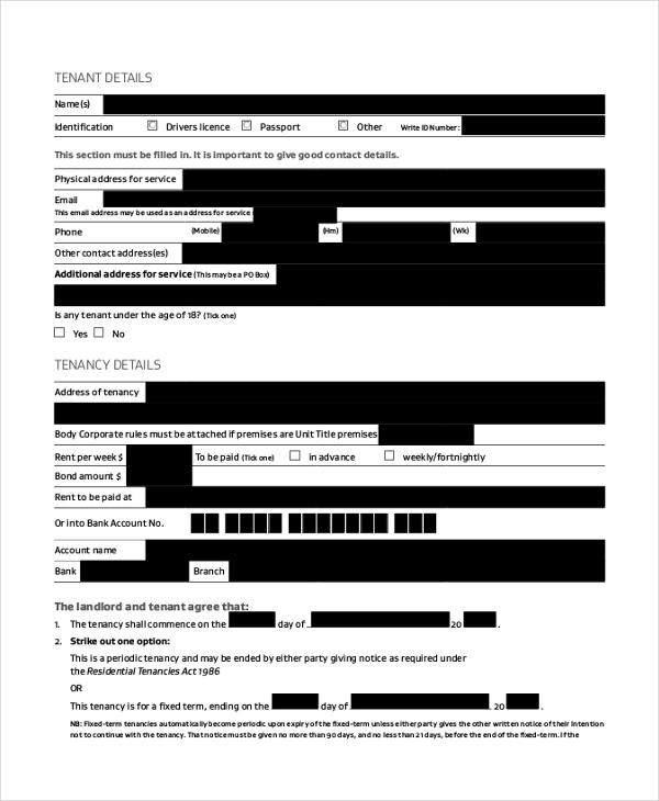 rent tenancy agreement form1