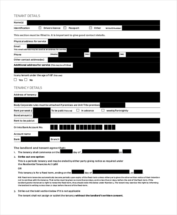 residential room rental agreement form1