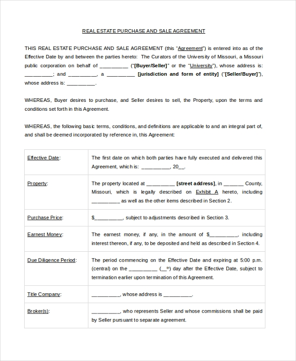 Sample Real Estate Sales Contract Form - 8+ Free Documents In Pdf, Doc