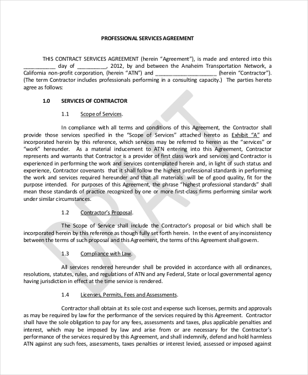 Sample Contract Agreement Forms  Sample Example Format