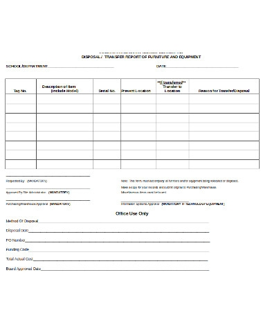 simple school transfer form