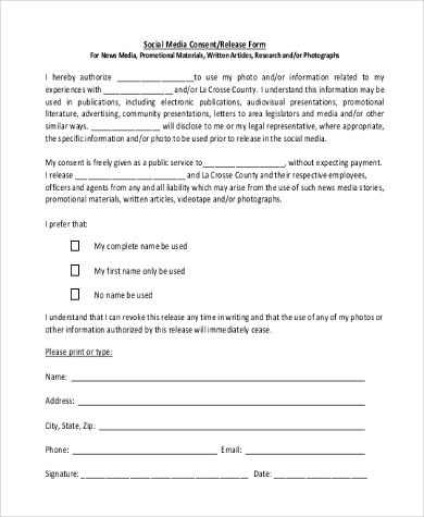 Sample Media Release Forms 10 Free Documents In Pdf