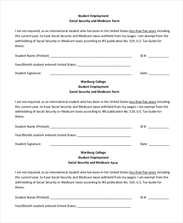 Sample Social Security Form 16 Free Documents In Pdf