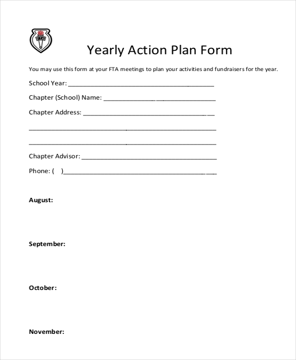 yearly action plan form1