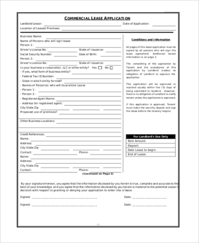 commercial rental application pdf