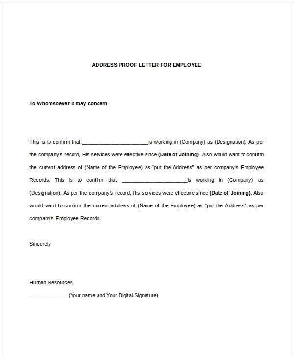 sample employee verification letter 8 free documents in pdf doc