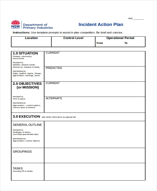 Sample Action Plan Forms  Free Sample Example Format