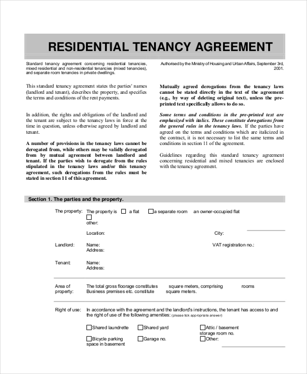 residential tenancy agreement2
