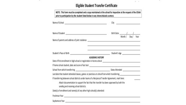 Reason For School Transfer Request Sample