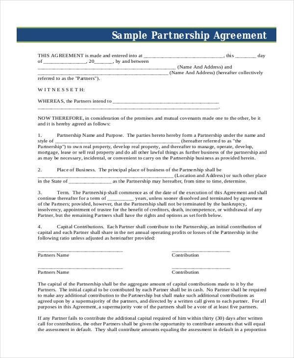 small business partnership agreement1