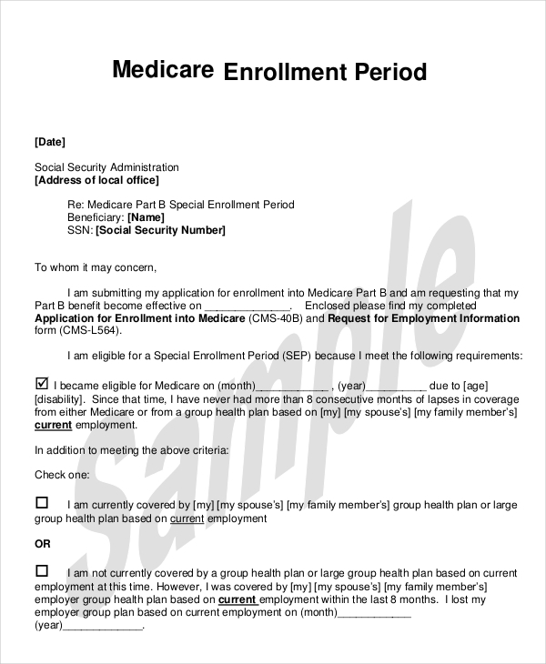 Social Security Application For Enrollment In Medicare Form