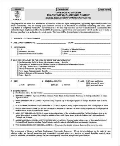 target government job application