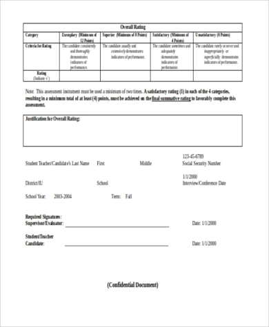 teacher performance evaluation form1