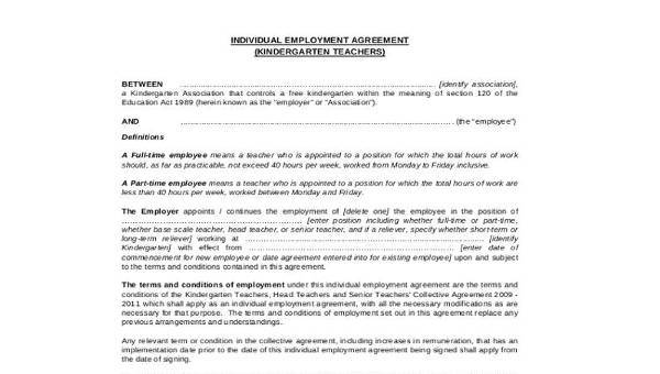 9 Employment Agreement Samples Free Samples Examples Format