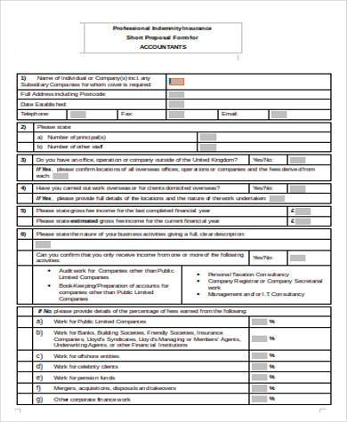 accountants proposal form in word format1