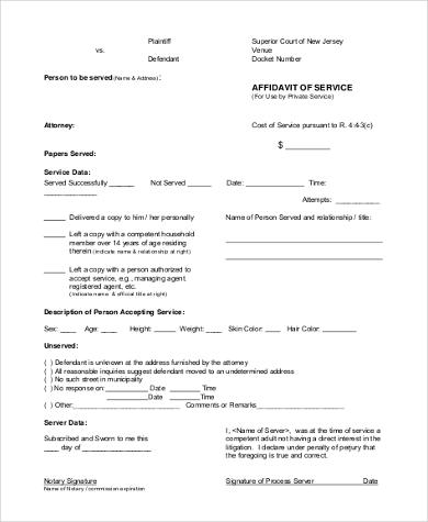 Fancy sample format of affidavit inspiration resume ideas bayaar affidavit of service form samples 8 free documents in word pdf altavistaventures Choice Image
