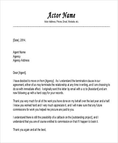 letter of termination of contract
