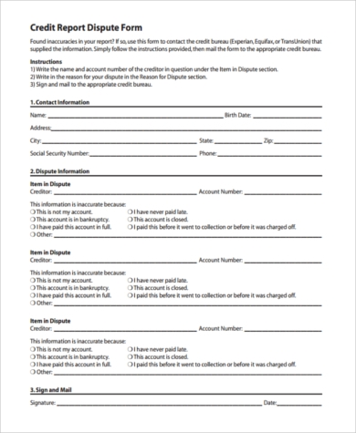 annual credit report dispute form1