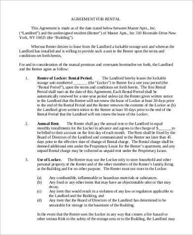 annual rent agreement form