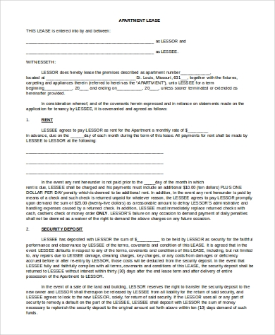 apartment lease application form1