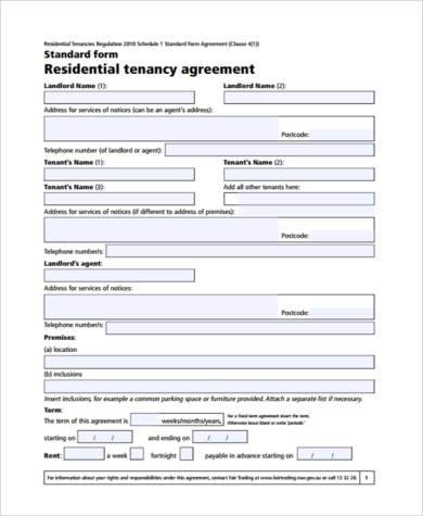 apartment rental agreement pdf