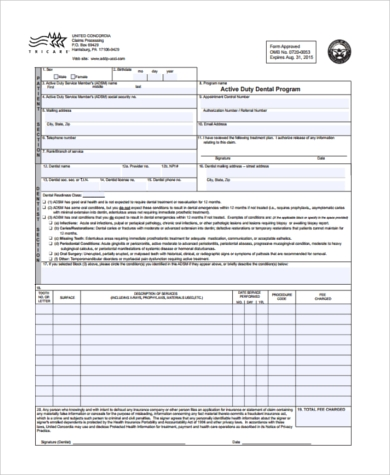 army dental readiness form