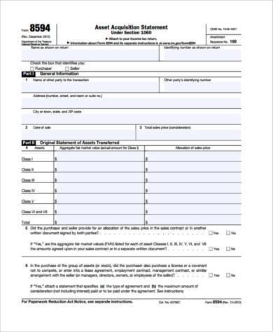 asset acquisition agreement form
