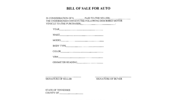 auto bill of sale form sample 9 free documents in pdf