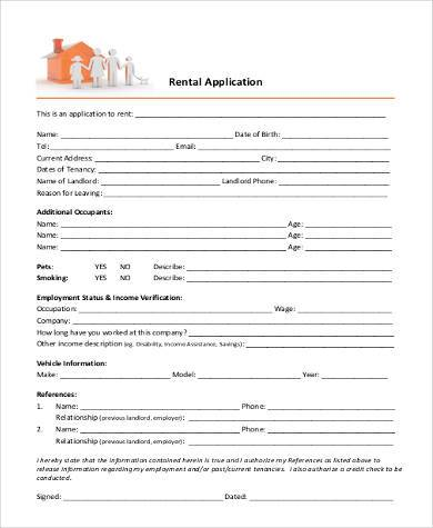 Basic-Rental-Application-Example Credit Application Form In Word Format on blank automotive, free rental, small business, car dealership,
