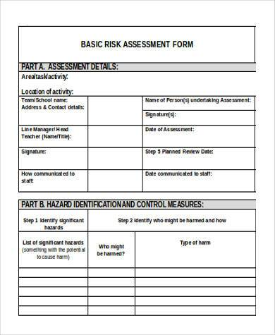 basic risk assessment form1